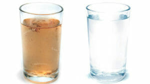Dirty-and-clean-water-glasses